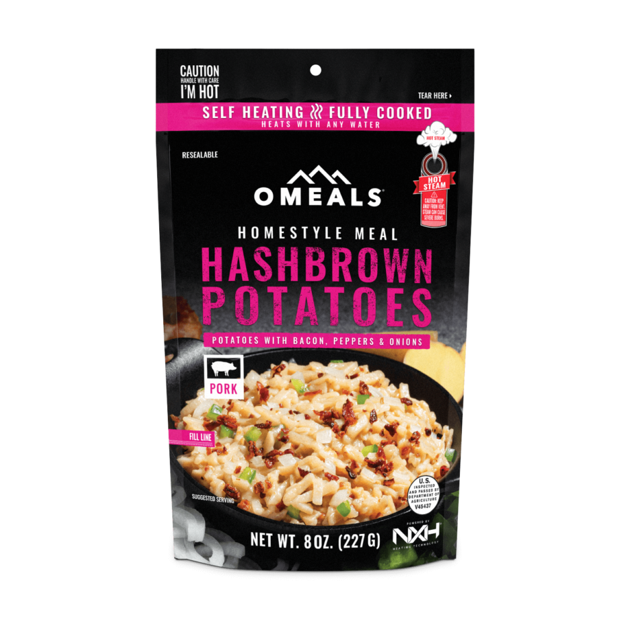 Trail Industries | Omeals | Hashbrowns with Bacon, Onion, and Pepper