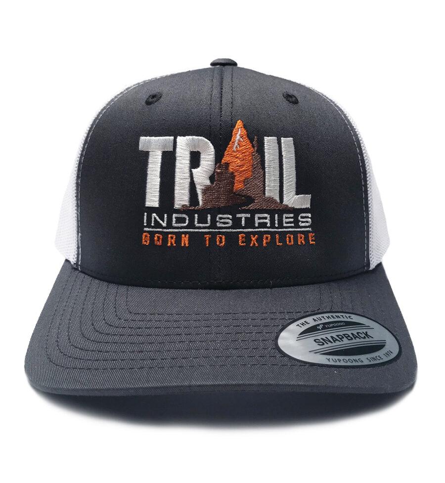 Trail Industries | Born to Explore | Retro Snapback Trucker Hat
