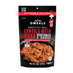 OMEALS Lentils with Beef Veggies and Sauce