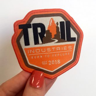 Trail Industries Patch Logo | Born to Explore