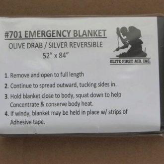 Trail Industries | Elite First Aid | Emergency Blanket