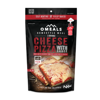 Trail Industries | Omeals Self Heating Meals | Cheese Pizza