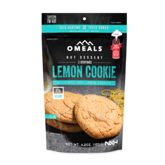 Trail Industries | Omeals Self Heating Meals | Lemon Cookie
