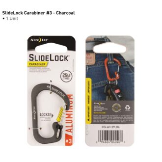 Trail Industries | Nite Ize | No3 Carabiner Charcoal