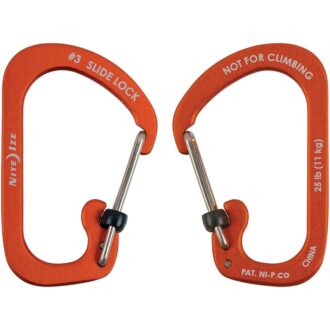 Trail Industries | NiteIze | SlideLock Carabiner No3 Orange