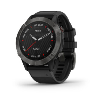 Trail Industries | Garmin | fēnix® 6 Sapphire, Carbon Gray DLC with Black Band