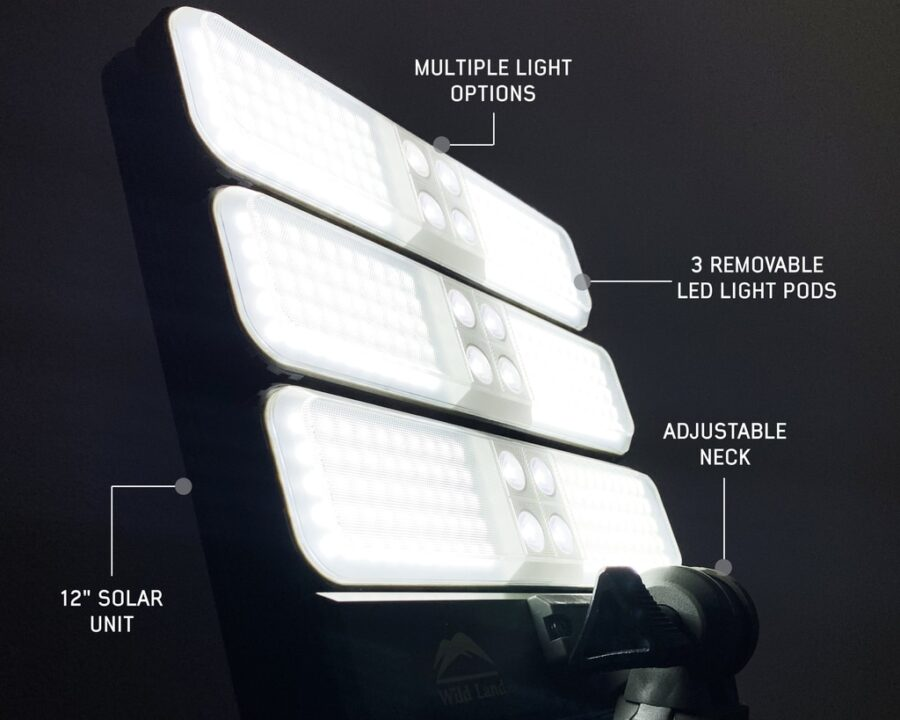 Trail Industries | OVS | Overland Vehicle Systems | Wild Land Camping Gear Solar Powered Light with Light Pods