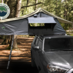 OVS Nomadic 2 Extended Roof Top Tent - Dark Gray Base With Green Rain Fly & Black Cover