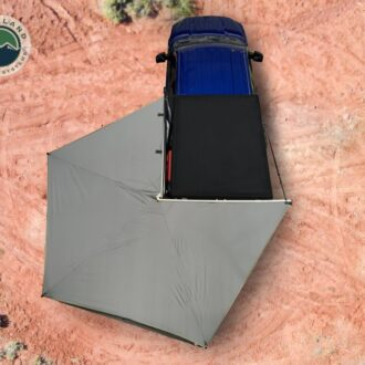 Trail Industries | Overland Vehicle Systems | Nomadic 270 LT Awning Gray with Black Travel Cover, Driver Side