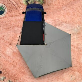 Trail Industries | Overland Vehicle Systems | Nomadic 270 LT Awning Gray with Black Travel Cover, Passenger Side