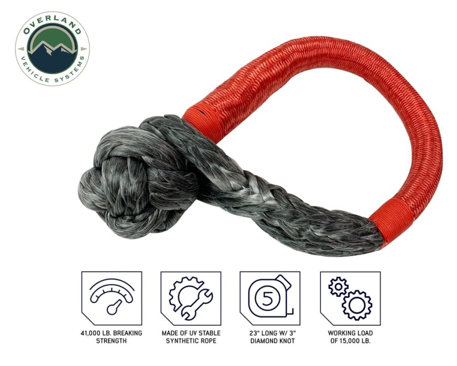 """Trail Industries   Overland Vehicle Systems   Combo Pack Soft Shackle 5/8 in and Recovery Ring 6.25"""""""