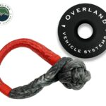 """Overland Vehicle Systems Combo Kit Soft Shackle 5/8"""" 44.5k lb. and Recovery Ring 6.25"""" 45k lb. Black"""