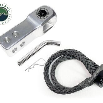 "Trail Industries | Overland Vehicle Systems | Soft Shackle 5/8"" with Collar 44.5 lb and Aluminum Receiver Mount"