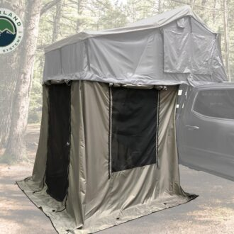 Trail Industries | Overland Vehicle Systems | Nomadic 4 Annex Green Base with Black Floor and Travel Cover