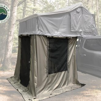 Trail Industries | Overland Vehicle Systems | Nomadic 3 Annex Green Base with Black Floor and Travel Cover
