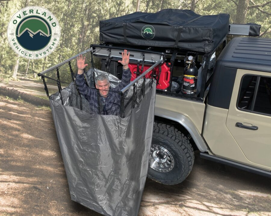 Trail Industries   Overland Vehicle Systems   Car Side Shower Room