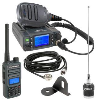 Trail Industries | Rugged Radio | Jeep Radio Kit - GMR25 Waterproof GMRS Mobile Radio and GMR2 Handheld