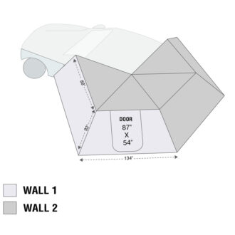 Trail Industries | OVS | Overland Vehicle System | Nomadic 270 LT Awning Wall 1 Driver Side