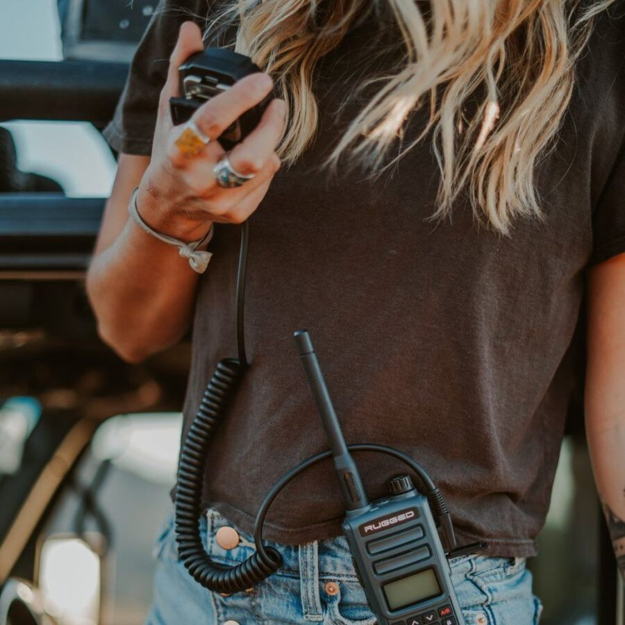 Trail Industries | Rugged Radios | Rugged GMR2/FRS with Hand Mic